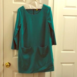 J Crew size 4 teal shift dress